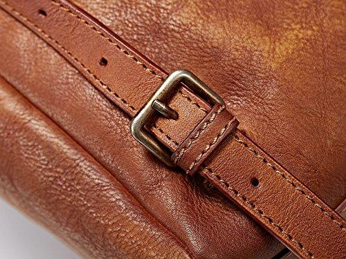 Bvane Damen Fashion Rucksack Vollnarbenleder Damen Daypack Vintage School Schultertasche Reise Handtasche 160487 Braun