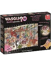 Jumbo 19157 Wasgij Destiny 18-Fast Food Frenzy 1000 Piece Jigsaw Puzzle, Multi