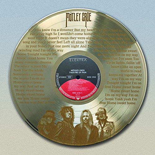 Motley Crue Gold LP laser etched w/Home Sweet Home Wall Art M4