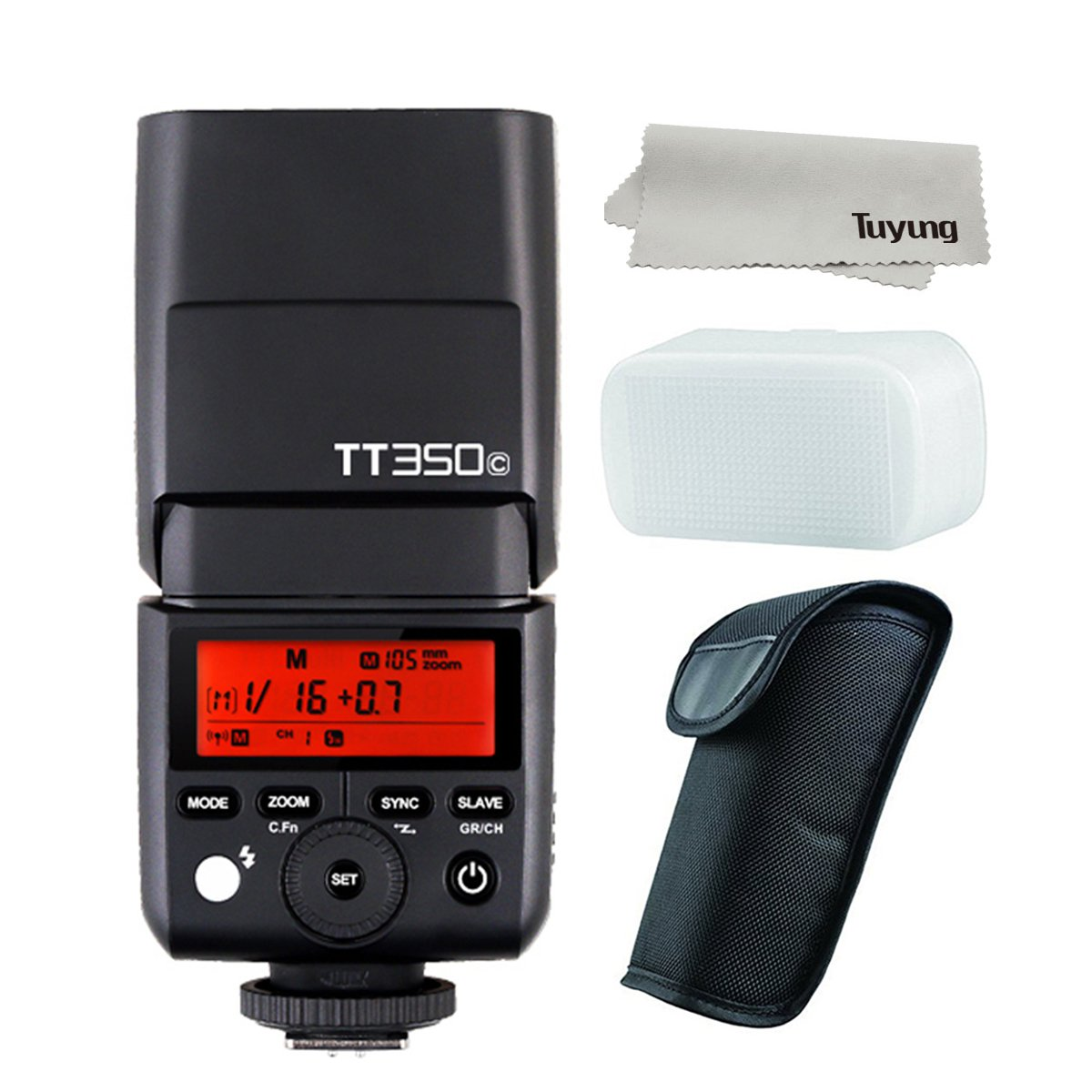 GODOX Mini TT350C TTL HSS max 1/8000s 2.4G Wireless X System Flash for Canon Cameras,5D Mark III 80D 7D 760D 60D 600D 30D 100D 1100D Digital X etc Cameras