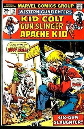 WESTERN GUNFIGHTERS #27-KID COLT/APACHE KID/ETC VF