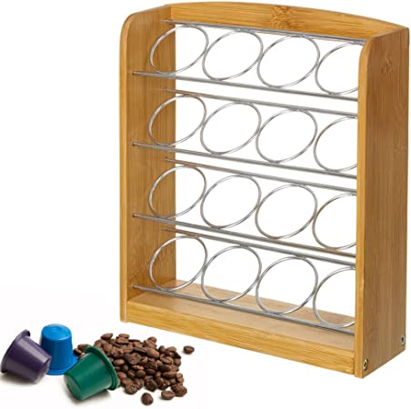 Portacapsule Porta Cialde Capsule Caffè Dispenser In Metallo 30 Posti