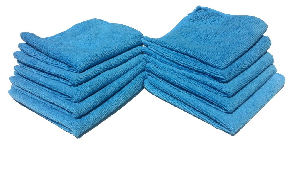 [300 Pack] Microfiber Cleaning Cloths - 100% Microfiber - Blue Color - Reusable, Washable, and Eco-friendly! (300)