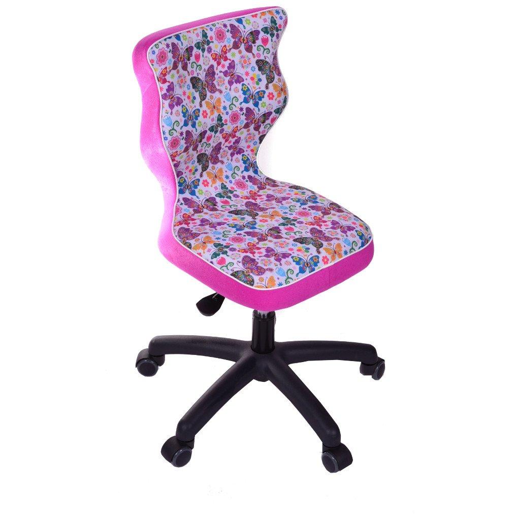 Good Chair pr-sss4mcwk + P storia Sedia per bambini TWIST Farfalle con poggiapiedi poliestere multicolore 53x 53x 96cm Entelo PR-SSS4MB