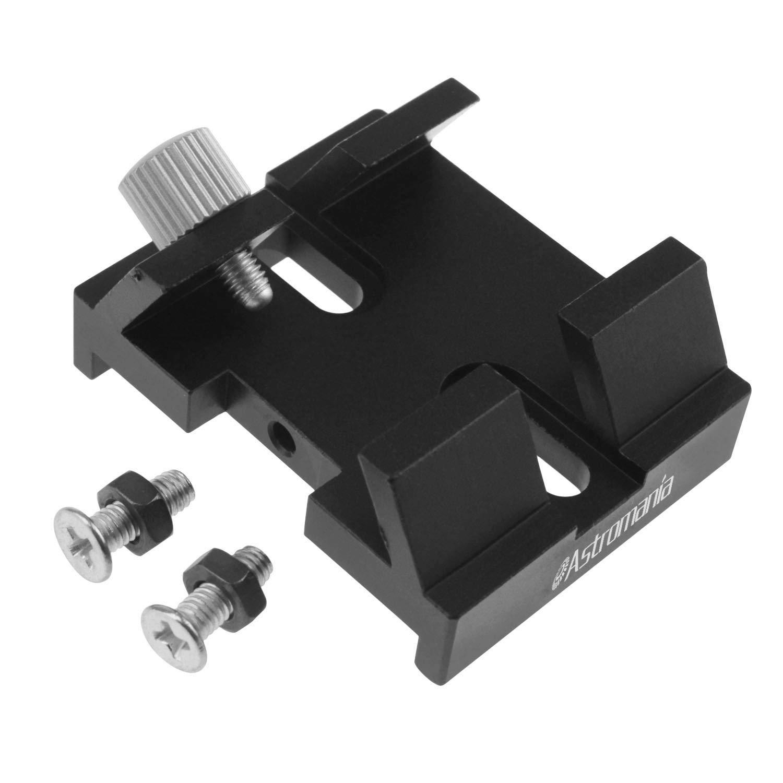 Astromania Schmidt-Cassegrain Finder Scope Base - Attach standard finder scope,Laser Pointer bracket or reflex sight bracket - The clamp in the bottom of dovetail base fits standard Vixen dovetail bar