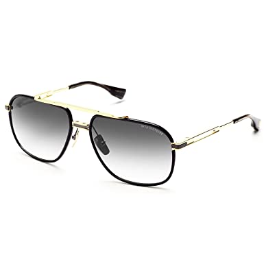 2218ed741f1 Amazon.com  Dita Victoire DRX2049 DRX 2049 18K Gold Shiny Black Pilot  Sunglasses 60mm  Dita  Clothing