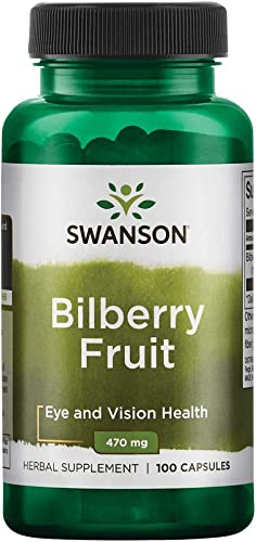 Swanson Bilberry Fruit 470 Milligrams 100 Capsules