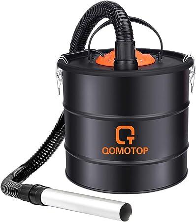 QOMOTOP Aspirador de Ceniza, 800W 18L, Soplador 140W, Cable 5M ...