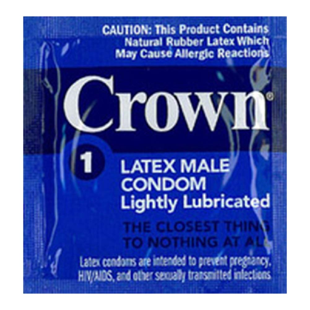 Crown Lubricated Condom (case of 1008) by Paradise Marketing Services