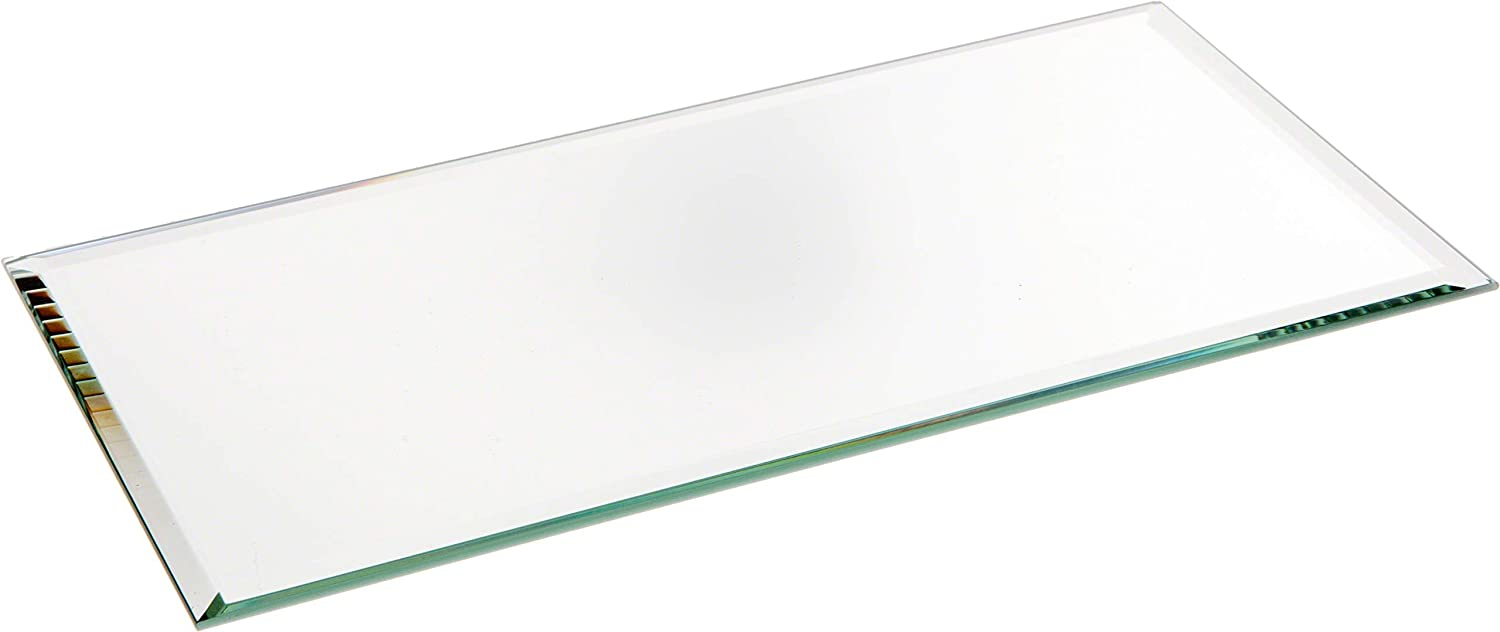Plymor Rectangle 3mm Beveled Glass Mirror, 4 inch x 8 inch (Pack of 3)