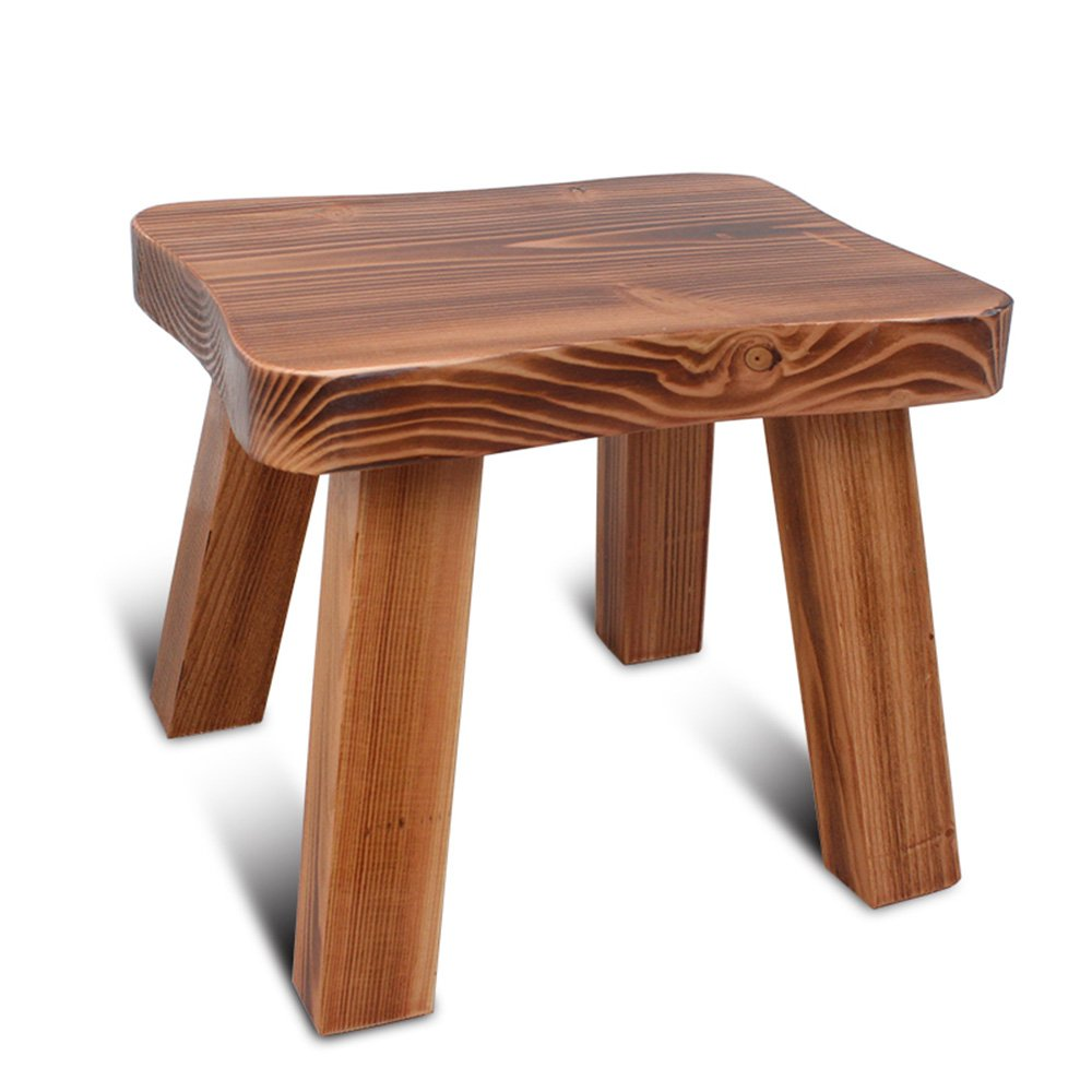Chairs MEIDUO Stool Household Solid Wood Short Stool for Children's (Color : B)