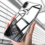iPhone X Silikon Hülle, ikalula Crystal iPhone X Schutzhülle Premium Kratzfest Anti-Shock Soft TPU Case Cover Ultra Dünn Weich Handyhülle for iPhone X Bumper Case ( Transparent )