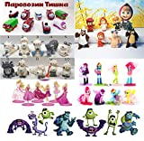[RusToyShop] 20psc mixed for girls and boys From Kinder Surprise Eggs, chupa-chups and otherin eggs , in Shells Capsules Party Favor Toy Filled Easter, birthday gift present, toppers