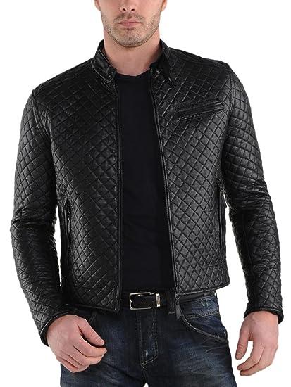 236a2a576 Men's Motorcycle Lightweight Bomber Jacket Stylish Slim Fit Biker Lambskin  Leather Jackets for Men