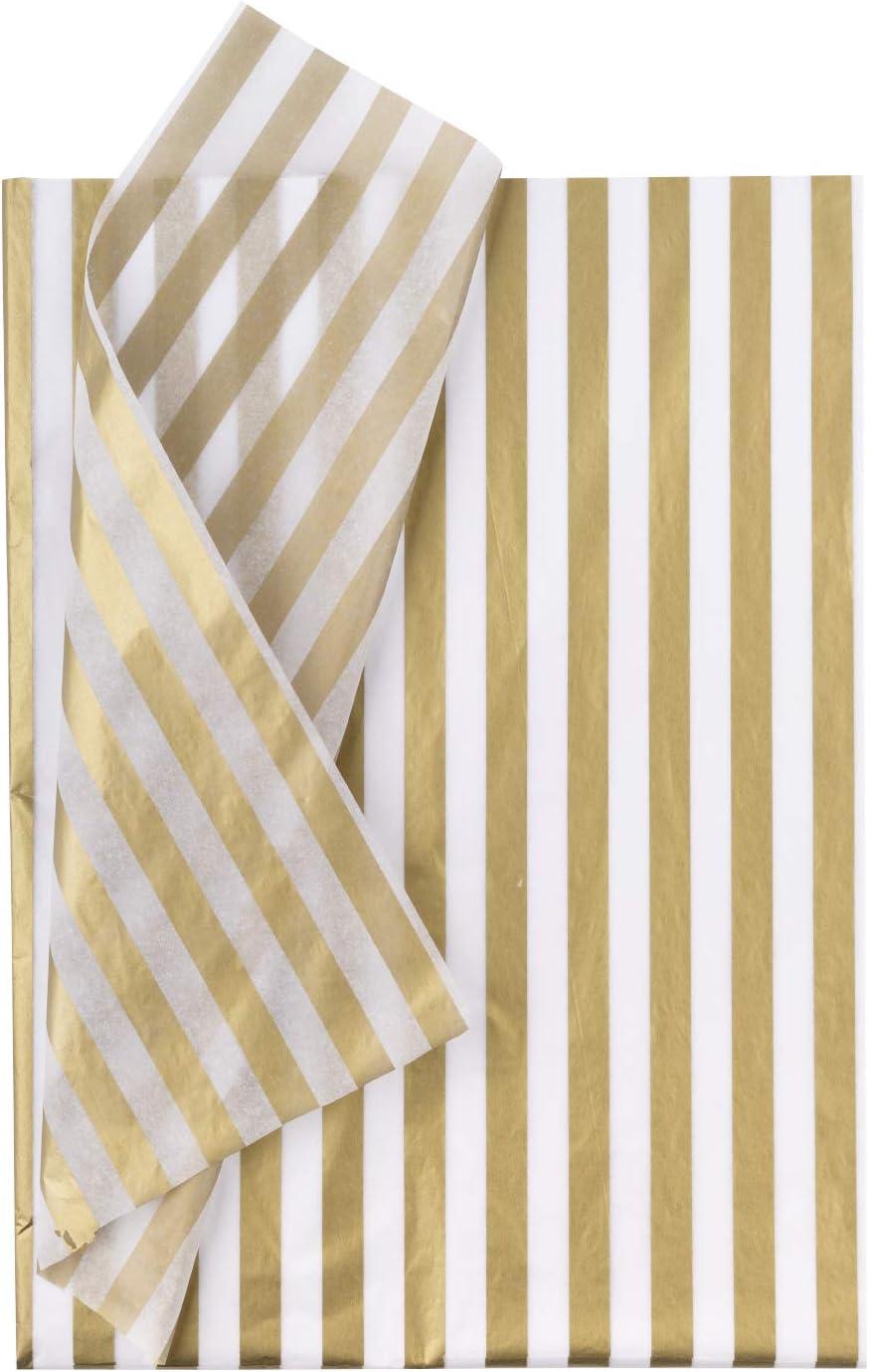50 x 70 cm 25 Blatt Metallisches Gold Plaiddruck Seidenpapier f/ür Heimarbeit Bastelarbeit Geschenkverpackung RUSPEPA Geschenkpapier Seidenpapier
