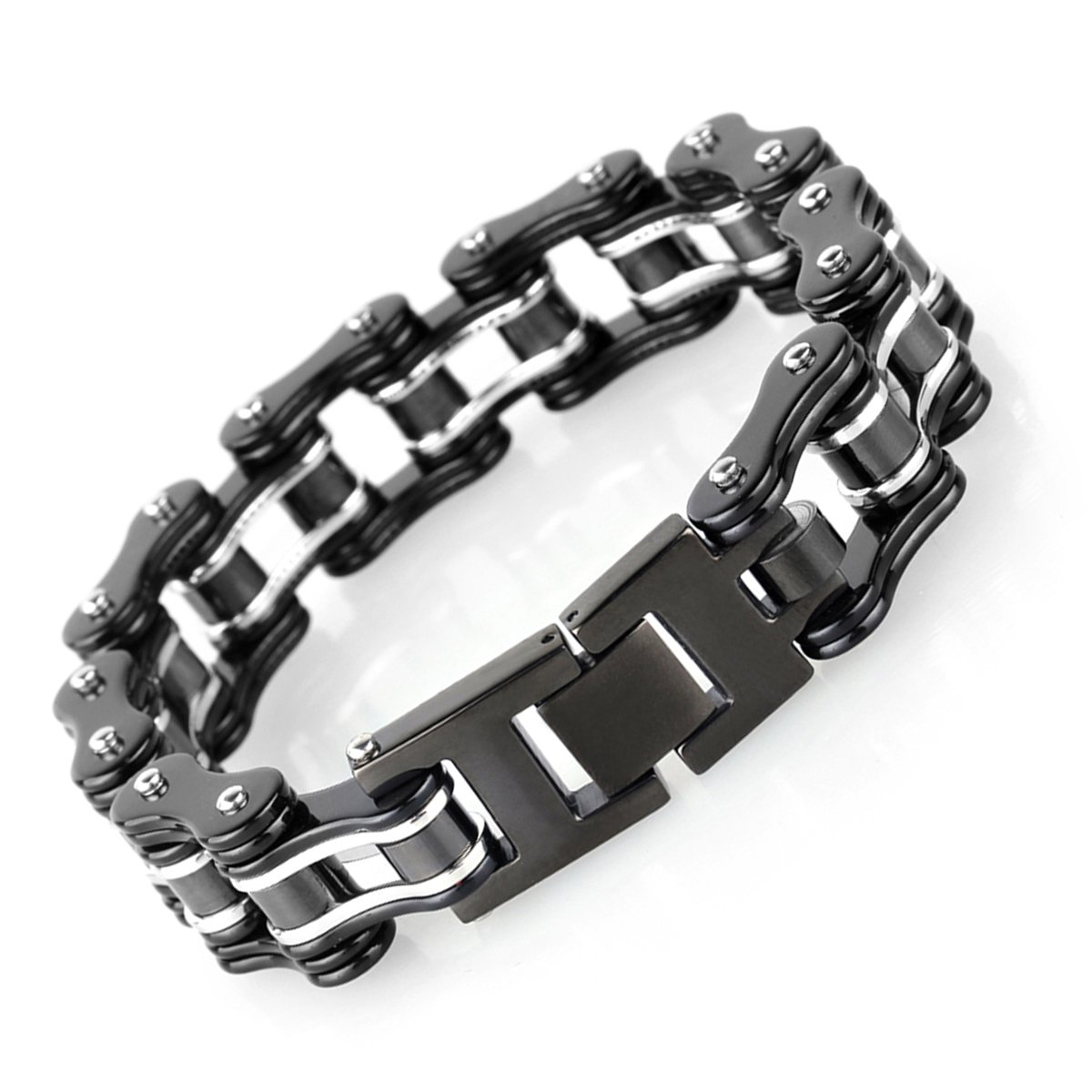 HOKY Bike Chain Bracelets for Men Stainless Steel KB69658-CA
