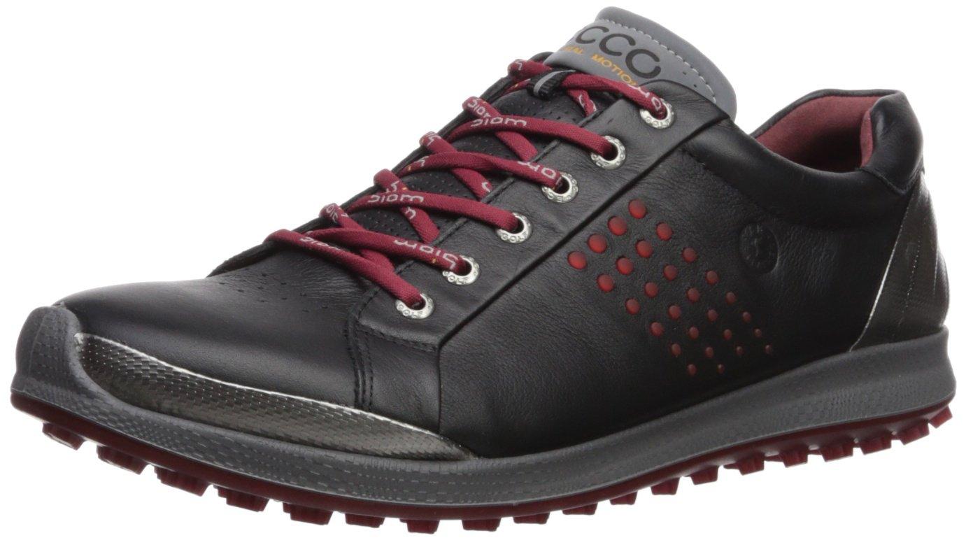 ECCO Men's Biom Hybrid 2 Hydromax Golf Shoe, Black/Brick, 39 Medium EU (5-5.5 US)