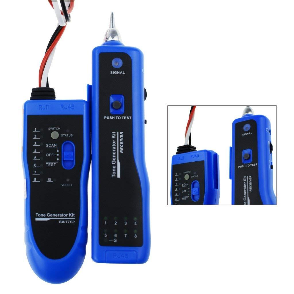 iMBAPrice RJ45//RJ11//RJ12//CAT5//CAT6// UTP Network LAN Cable Tester Test Tool Pack of 2