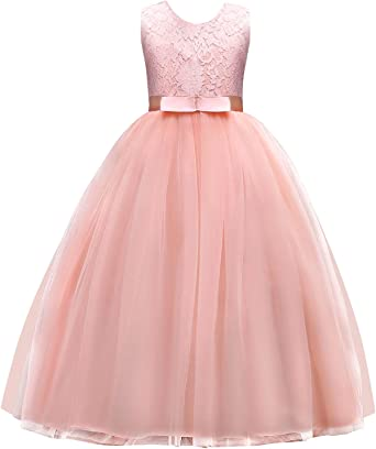 Girls Floor Length Dress Pageant  Bridemaids Prom Party Princess Ball Gowns