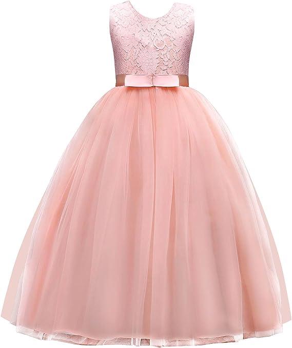 Amazon.com: Jurebecia - Vestido de princesa para niñas de 5 ...