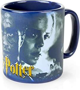 Harry Potter Hogwarts Hero Trio Heat-Reveal 20-Oz Ceramic Mug - Harry, Hermione & Ron Wrap-Around Image - Large Magical Cup For Fans of Rowling's Movies - Perfect For Coffee, Tea Or Butterbeer!