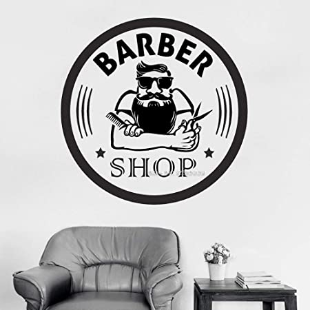 zqyjhkou Barber Shop Tatuajes de Pared Vinyl Barber Sign ...