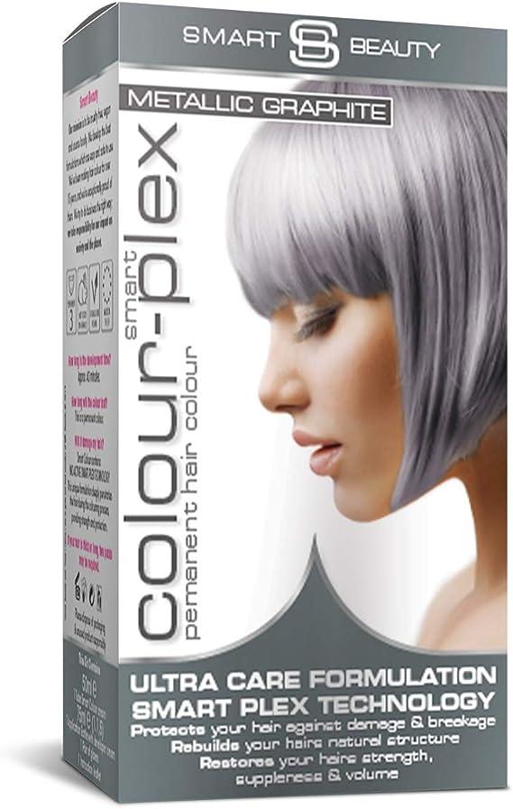 Smart Beauty Tinte de Pelo Permanente, Metálico Pastel Color con Nutritivo Nio-Active Plex Tratamiento Capilar, 150ML - Grafito, 150 Milliliters
