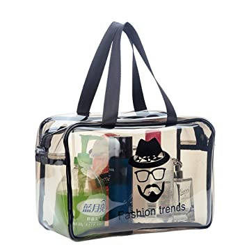 Amazon.com    Fashion Trends Ochioly Toiletry Bags Makeup Cases Bags  Plastic Bag Clear Travel Bag Brushes Organizer for Men and Women Travel  Business ... 72c7f9807f653