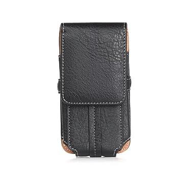 hengying Noir en Cuir PU Téléphone ceinture Clip ceinture Pochette  Téléphone Portable Housse de transport avec 0786e2baba2