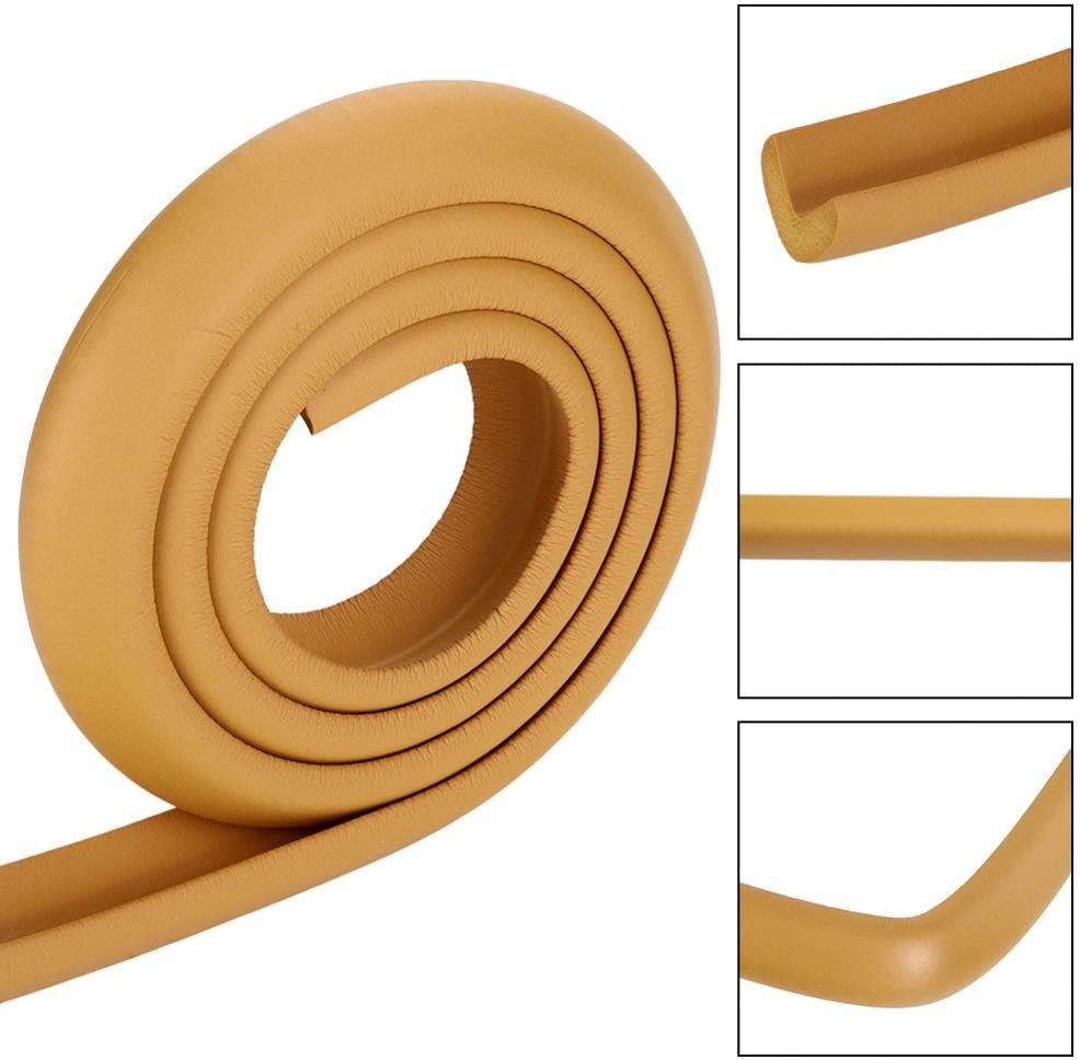 Nursery Brown 2M Protectors Table Edge Safe Corner Guard Anti-Collision Bar Protector for Different Size Furniture Suitable for Home Kids Baby Safety Rubber Bumper Strip