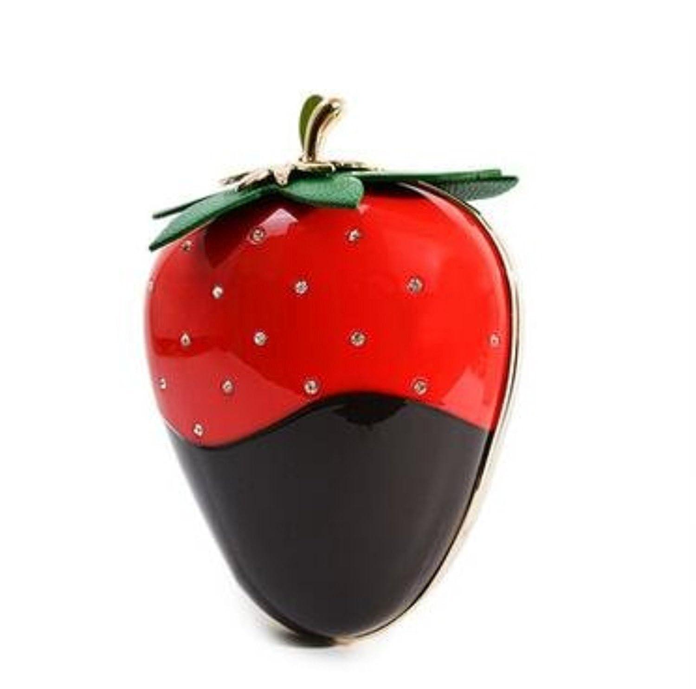Acrylic Pink Strawberry Evening clutch bag purse handbag Girl For Spring Easte