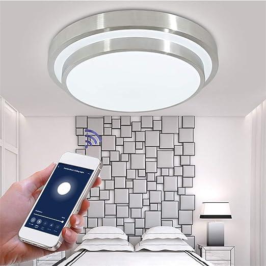 Lámpara De Techo LED WIFI Plafon Aplicación De Teléfono ...