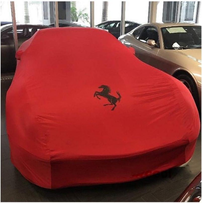 Housse de voiture Compatible avec Ferrari extensible sp/écial Tissu Couverture 599 FF 348 F355 Exposition int/érieure Salle Sous-sol Sedan Cover Color : Red