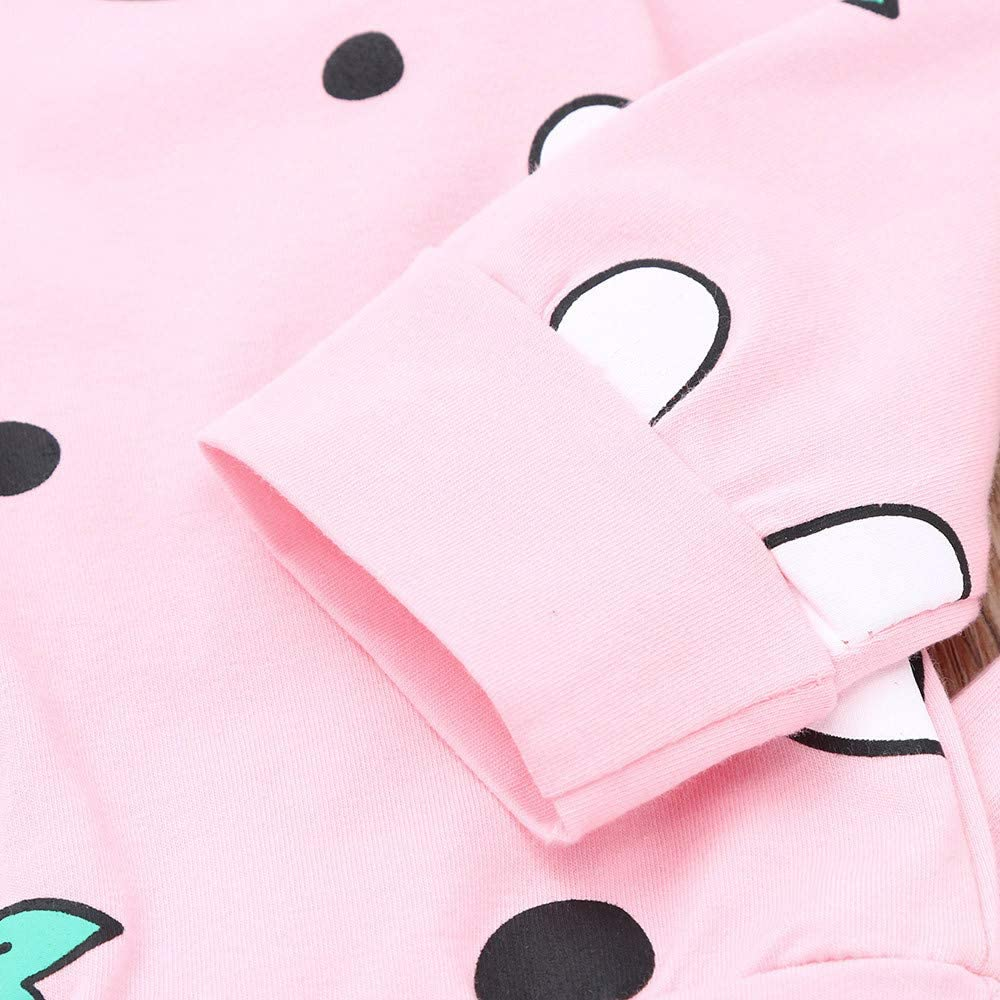Dream/_mimi Unisex Baby Long Sleeve Cartoon Bunny Print Top+Pants+Hair Strap 3 Piece Set