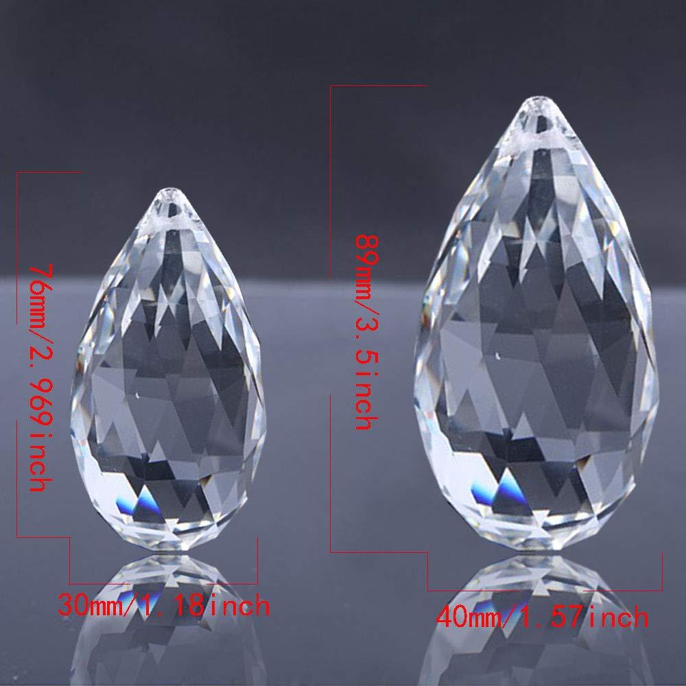 40MM Rugby Shape SunAngel Clear Corn Balls Pendants /& Clear Jewelry Crystals Pendants /&Chandelier Suncatchers Prisms Hanging Ornament Prisms Rainbow Crystal Pendants