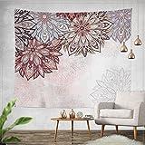 Jiamingyang Indian Mandala Flower Printed Tapestry Wall Hanging Tapestries Boho Bedspread Beach Towel (Small/59'' X 51'', Pattern 04)