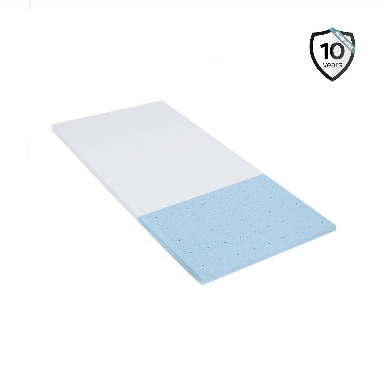 Polar Sleep Gel Memory Foam Topper 2.5 Inch Ultra-Premium mattress Topper For bed Cooling Technology Certipur Twin XL Size