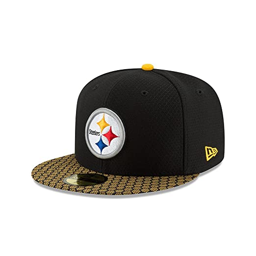 99b8139c7 New Era 59Fifty Hat Pittsburgh Steelers NFL 2017 On Field Sideline Fitted  Cap (6 7
