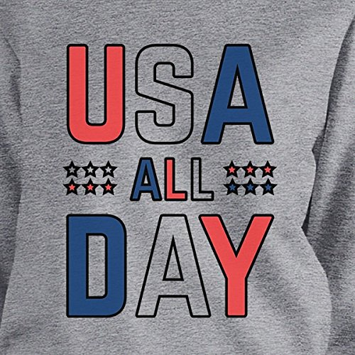 Sweatshirt Usa Grey Day Taille 365 Femme shirt Sweat All Unique Manches Longues Printing nx8UqCUwP7
