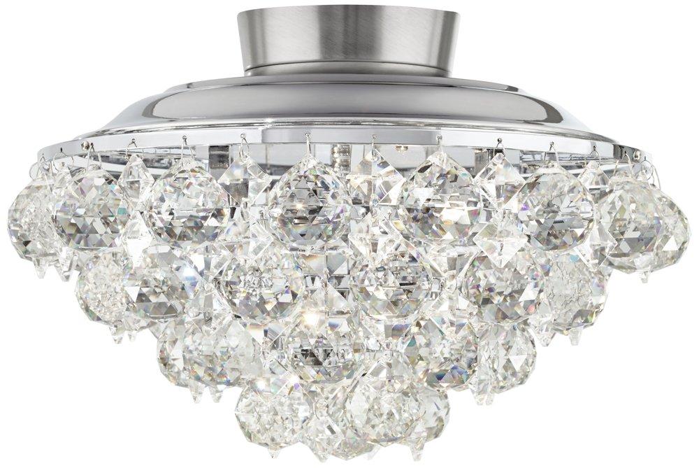 Clear crystal ball chrome universal ceiling fan light kit fan lamp clear crystal ball chrome universal ceiling fan light kit aloadofball Images