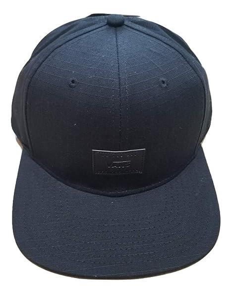 efe9ab04 Vans Leather Rip-B Black Snapback Hat One Size at Amazon Men's ...