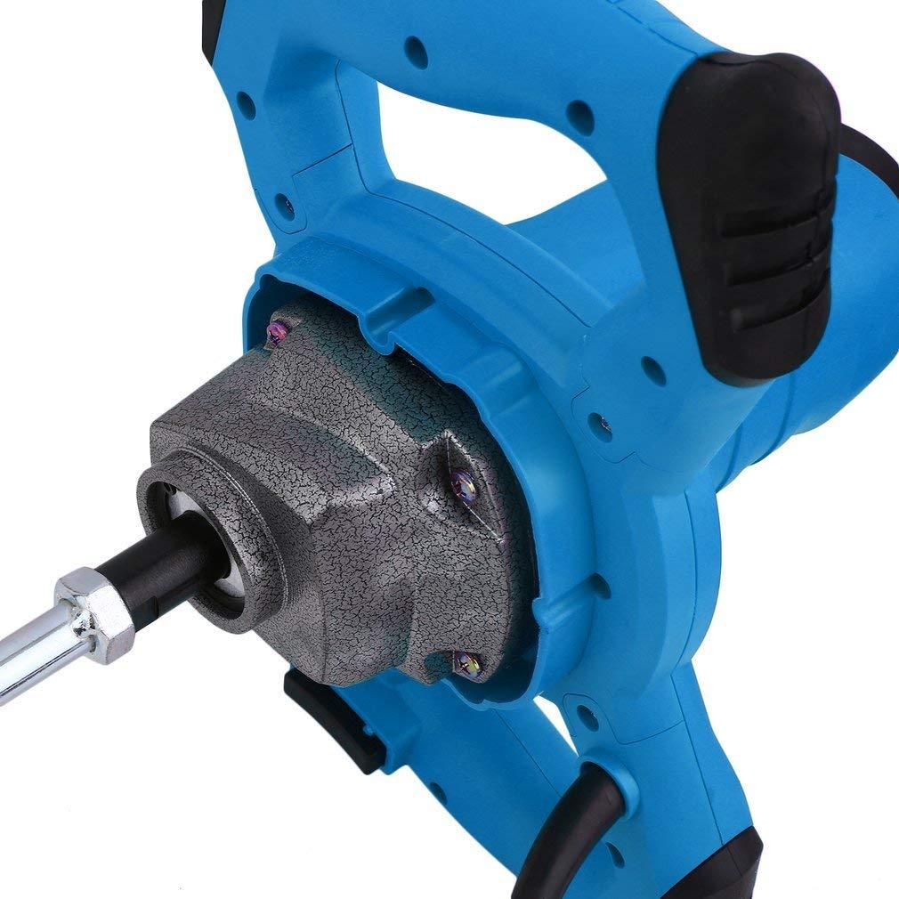 Homgrace 1600W Mezclador Batidor para Pintura Mortero con Agitador, 220V Azul