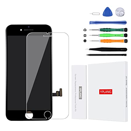pretty nice 03ec1 ea81d YPLANG iPhone 7 Plus Screen Replacement Black-3D Touch: Amazon.in ...