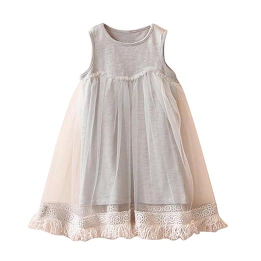110caf11f0540 Amazon.com: Fabal Summer Summer Girls Baby Tassel Dress Children Mesh Dresses  For Girl Children Clothing: Clothing