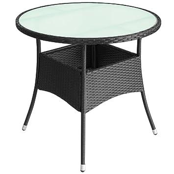 vidaXL Table de Jardin Mobilier de Jardin Résine Tressée (80 x 74 cm ...