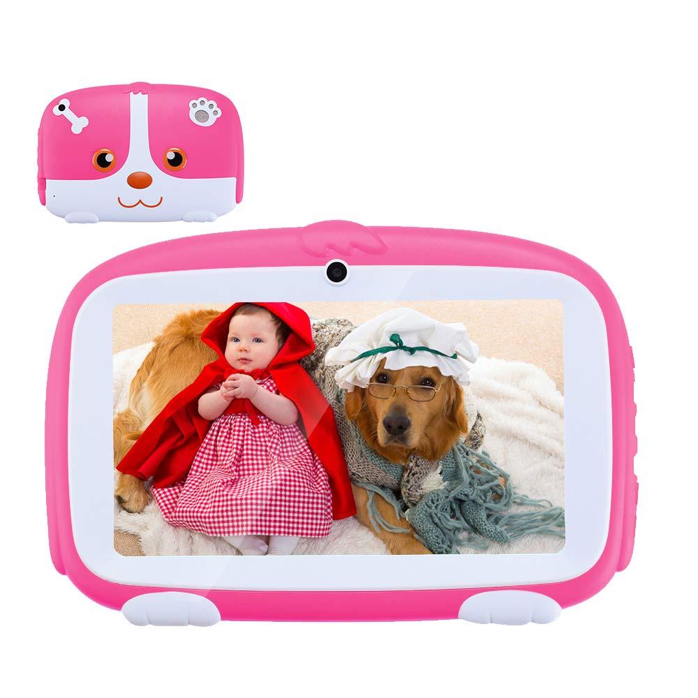 Haehne 7 Pouces Enfant Tablet PC - Google Android 6.0 Quad-Core, 512 Mo de RAM 8 Go ROM, Double Camé ras 2.0MP+0.3MP, Construit en Mode Enfants Apps, WiFi, Rose Double Caméras 2.0MP+0.3MP Shenzhen Haina Tianyuan Ecommerce Co. Ltd. XZ-PAD-Kid-Pink