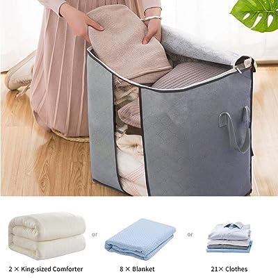 Large Foldable Quilt Storage Bag Closet Organizer Clothes Blanket Box Mold-proof