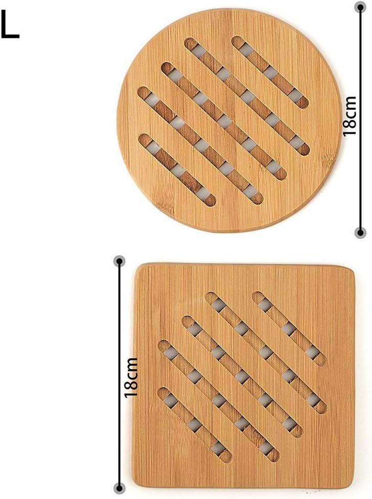 Xnbnsj Lot de 4 dessous de plat en bambou r/ésistant /à la chaleur et antid/érapants l
