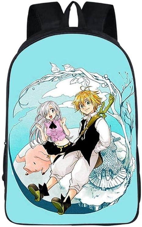 MUATE Estuche De Lápices Anime The Seven Deadly Sins Mochila Mochilas Escolares para Adolescentes Niños Niñas Bolsas De Viaje, 10: Amazon.es: Deportes y aire libre