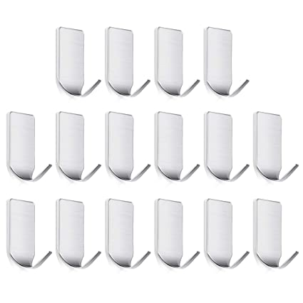 Amazoncom Sticky Wall Hangers Self Adhesive Hooks 16 Pcs Office
